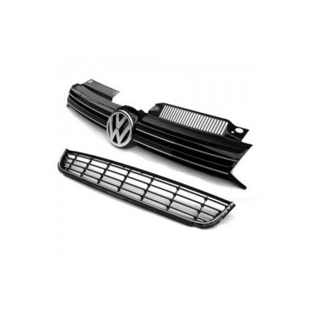 Radiator grille with chrome strips + grille under bumper Golf VI