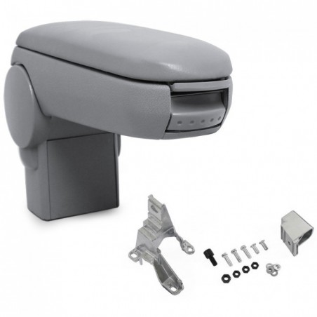 Center arm rest leather grey - VW - AUDI - SEAT - SKODA