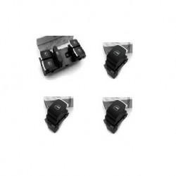 Lot boutons lève vitre avec insert chromé (5 portes)