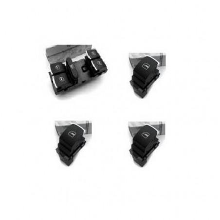 Lot boutons lève vitre double avec insert chromé (5 portes)