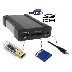 Boitier lecteur MP3, USB, SD et Jack pour autoradio d'origine