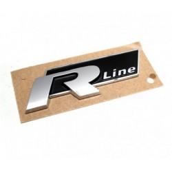 """Logo insigne """"R Line"""" Noir autocollant"""