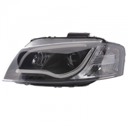 Phares Tube Light AUDI A3 8P Drl noir - R87 - LTI DRAGON LIGHT