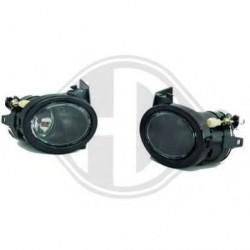 phares anti-br. design, chrome, HB4, pour pare-chocs style M BMW E46+39,