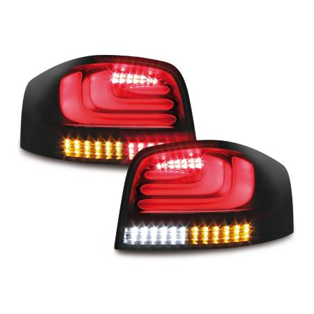 Feux Audi A3 8P Full Led noir fumé à clignotants dynamique