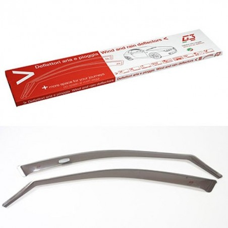 o Applicable:2011->o 5-porteo Set (2 pièces avant)o Couleur: gris Les déflecteurs latéraux ou spoilers de vitres, procurent