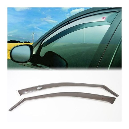 o Applicable:2006->2012o 5-porteo Set (2 pièces avant)o Couleur: gris Les déflecteurs latéraux ou spoilers de vitres, procur