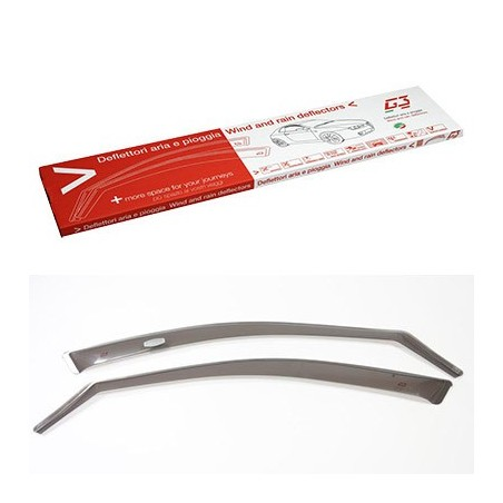 o Applicable:2007->2013o 5-porteo Set (2 pièces avant)o Couleur: gris Les déflecteurs latéraux ou spoilers de vitres, procur