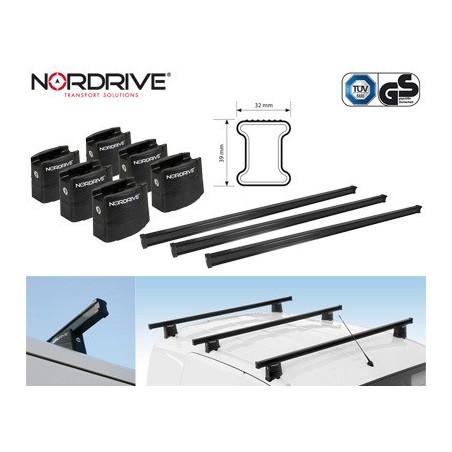 NORDRIVE KARGO Barres de Toit 3-Barres pour FIAT DUCATO 3 (250)-Applicable: 07/2006->-Pour véhicules sans rails- Matériau: