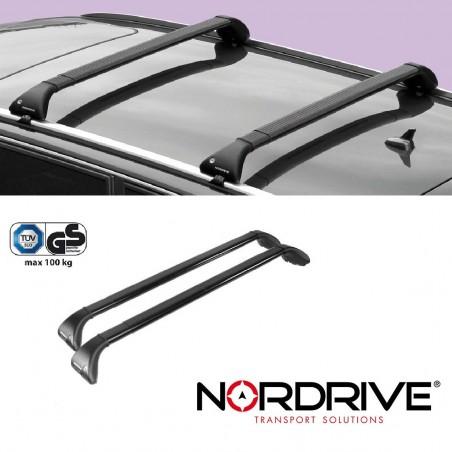 NORDRIVE SNAP Barres de toit pour AUDI A4 AVANT (B6)-Applicable:2001 -> 2004-Pour véhicules avec rails- Matériau: Acier no