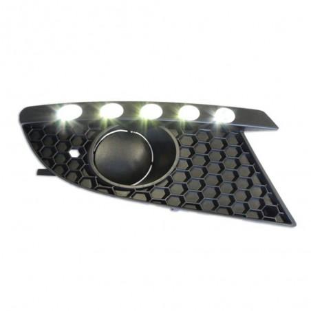 Feux diurnes à LED fumé Seat Leon 1P (pour véhicules avec feux anti-brouillard)