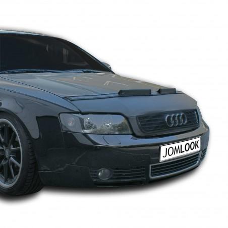 Bra de capot pour Audi A4 8E (02-04), simili cuir, noir